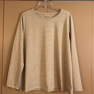 Talbots gold long-sleeved shirt 1X